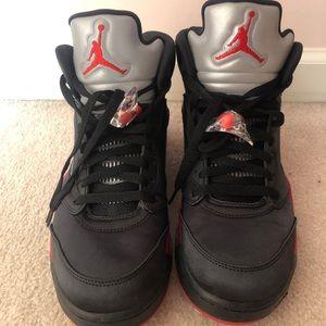 Men's Jordan Satin 5's, Size 9